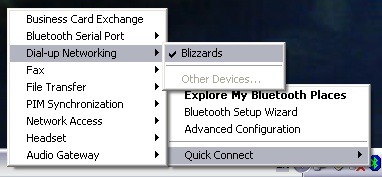 dun over bluetooth
